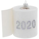 2020 Toilet Paper Glitter Ornament