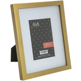 """Gold Wood Frame With Mat - 4"""" x 6"""""""
