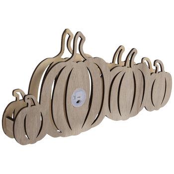 Light Up Wood Pumpkins