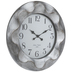 Distressed Pewter Wavy Wall Clock