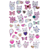 Magical Kittens With Gems Glitter Stickers