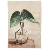 Leaves in Vase Canvas Wall Decor
