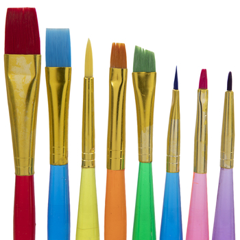 Taklon Paint Brushes - 8 Piece Set