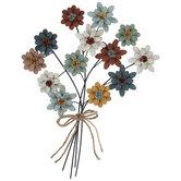 Flower Bouquet Metal Wall Decor