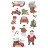 Country Santa Stickers