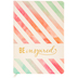 Be Inspired Watercolor Striped Journal