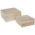 Square Wood Pallet Box Set