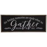 Gather Around The Table Wood Wall Decor
