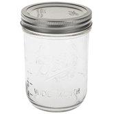 Wide Mouth Glass Mason Jar