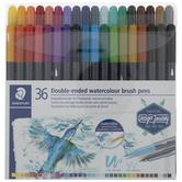 Staedtler Duo Watercolor Brush Pens - 36 Piece Set