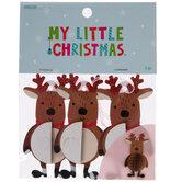 Honeycomb Reindeer Gift Tags