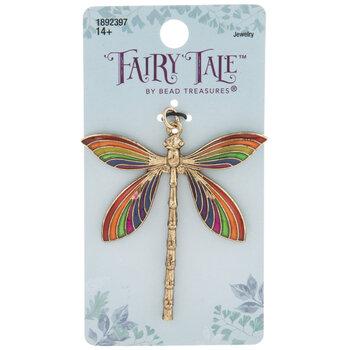 Rainbow Dragonfly Pendant