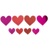 Red & Pink Metallic & Glitter Heart Stickers