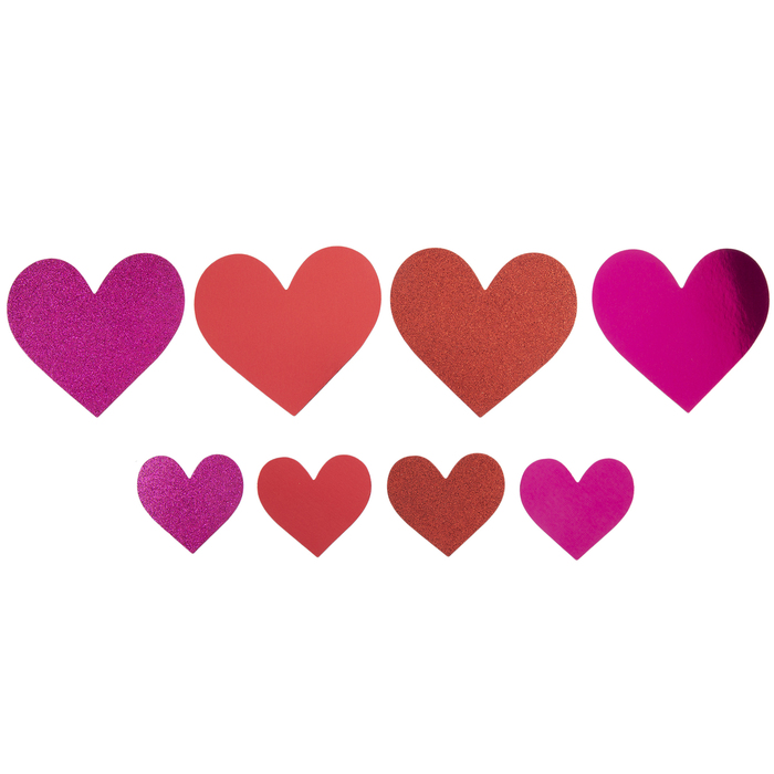 ~ Sparkle Red Pink Small Love Hearts Romance Hambly Studio Glitter Stickers ~