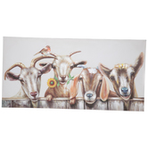 Painted Goats Canvas Wall Decor