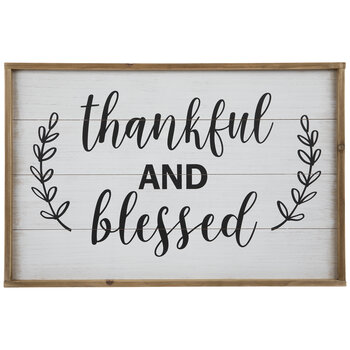 Thankful & Blessed Wood Wall Decor