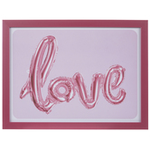 Pink Love Balloon Wood Wall Decor