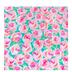 Pink & Turquoise Floral Self-Adhesive Vinyl