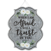 Psalm 56:3 Trust In You Metal Wall Decor