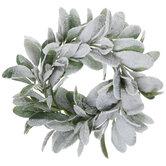 Flocked Glitter Lamb's Ear Wreath