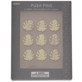 Gold Monstera Leaf Metal Push Pins