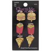 Pizza, Burger & Fries Connector Charms