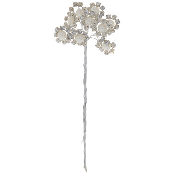 Pearl & Rhinestone Flower Pick