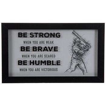 Be Humble Baseball Framed Wall Decor