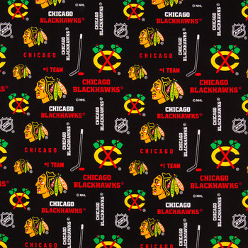 NHL Chicago Blackhawks Allover Cotton Fabric