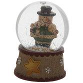 Mini Snowman With Snowball Snow Globe