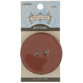 Light Brown Round Coconut Button - 51mm