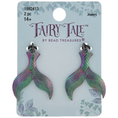 Iridescent Mermaid Tail Charms