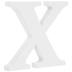 White Wood Letter X - 3