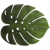 Green Monstera Leaf Placemat
