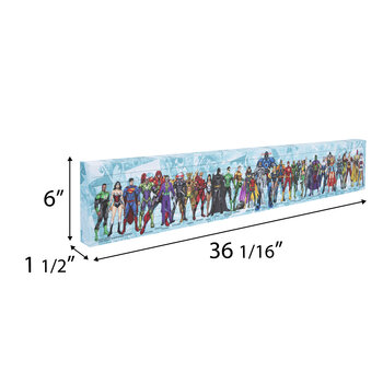 DC Characters Canvas Wall Decor