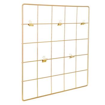 Gold Metal Wall Organizer