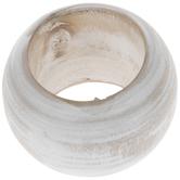 Whitewash Wood Napkin Ring