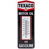Texaco Embossed Metal Thermometer