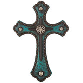 Turquoise Western Wall Cross