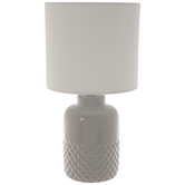 Gray Geometric Lamp