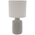 Gray Geometric Lamp