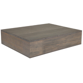 Gray Floating Wood Wall Shelf