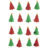 Christmas Trees Foil 3D Stickers
