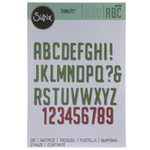 Sizzix Thinlits Embossed Alphabet Die