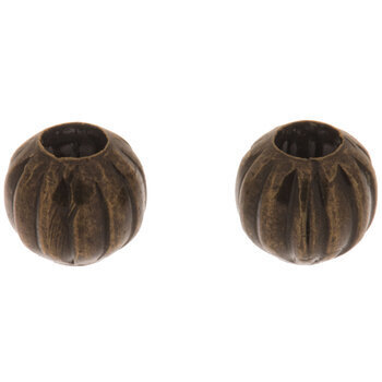 Fluted Metal Beads - 6mm