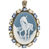 Unicorn Cameo Pendant
