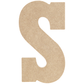 "Wood Letter S - 5"""