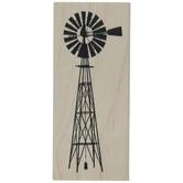 Farmhouse Windpump Rubber Stamp