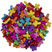 Cross Plastic Beads