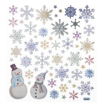 Snowflake & Snowmen Foil Stickers
